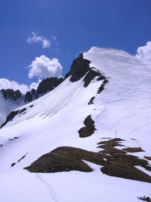 Foto: Andreas Koller / Wander Tour / Vom Zauchensee auf den Gamskogel (2186m) / Blick in den Schneekarsattel und auf den Schwarzkopf (2263 m) / 16.05.2008 01:39:08