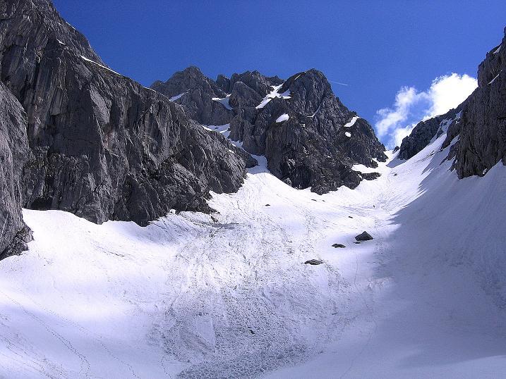 Foto: Andreas Koller / Wander Tour / Von Scheffau in das Schneekar (2121m) / Das Schneekar und die Treffauer Lucke / 16.05.2008 02:22:10