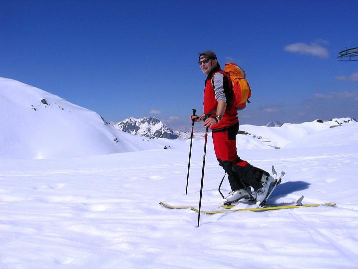 Foto: Andreas Koller / Ski Tour / Vom Zauchensee auf den Schwarzkopf (2263m) / Aufstieg knapp unterhalb des Schneekarsattels / 16.05.2008 03:01:27