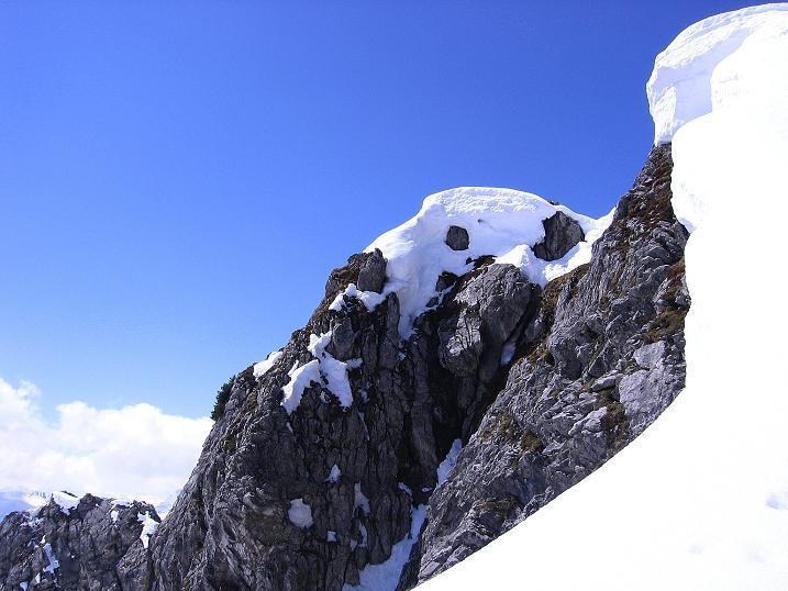 Foto: Andreas Koller / Ski Tour / Vom Zauchensee auf den Schwarzkopf (2263m) / Der Gipfelaufbau des Schwarzkopfs / 16.05.2008 02:59:50