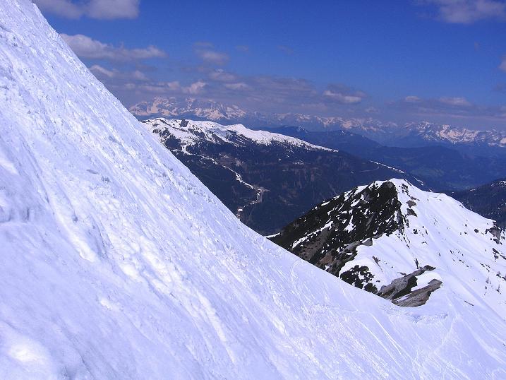 Foto: Andreas Koller / Ski Tour / Vom Zauchensee auf den Schwarzkopf (2263m) / In der sehr steilen NO-Flanke des Schwarzkopfs / 16.05.2008 02:58:42