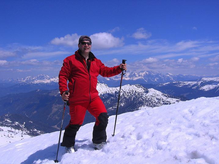 Foto: Andreas Koller / Ski Tour / Vom Zauchensee auf den Schwarzkopf (2263m) / Am Gipfel / 16.05.2008 02:56:59