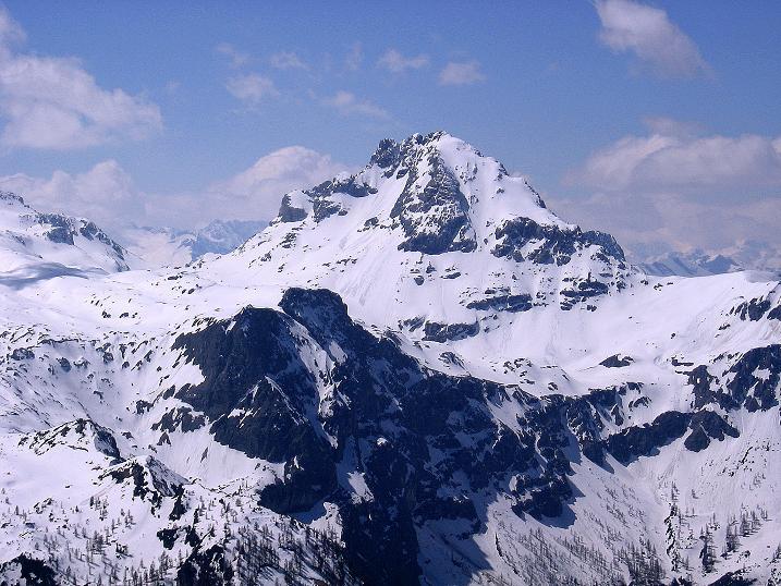 Foto: Andreas Koller / Ski Tour / Vom Zauchensee auf den Schwarzkopf (2263m) / Im W grüßt der Faulkogel (2653 m) / 16.05.2008 02:52:34