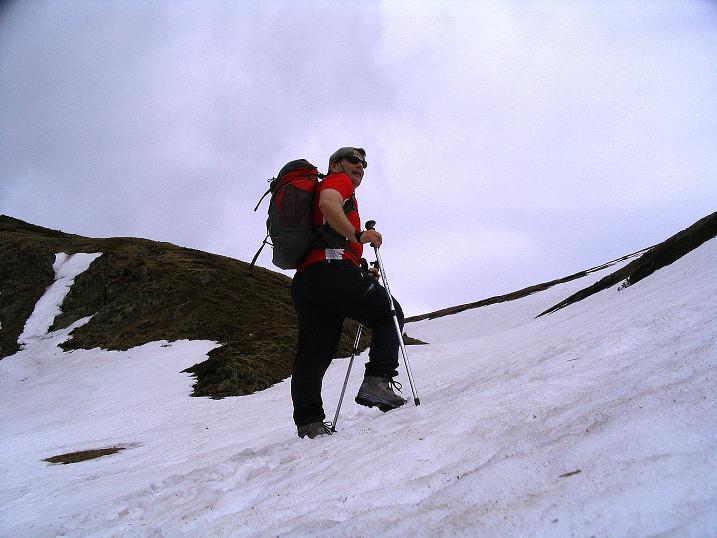 Foto: Andreas Koller / Wander Tour / Durch den Brandstätter Graben auf den Maierangerkogel (2356m) / Auf Schnee ins BRandstättertörl / 20.05.2008 00:41:09