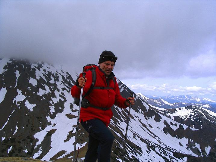 Foto: Andreas Koller / Wander Tour / Durch den Brandstätter Graben auf den Maierangerkogel (2356m) / Anstieg aus dem Brandstäätertörl mit Hochreichhart (2416 m) im Hintergrund / 20.05.2008 00:37:17