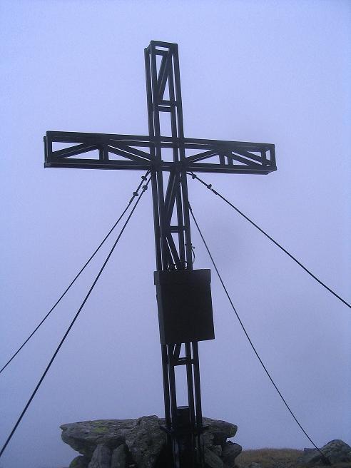 Foto: Andreas Koller / Wander Tour / Durch den Brandstätter Graben auf den Maierangerkogel (2356m) / Maierangerkogel Gipfelkreuz / 20.05.2008 00:28:04