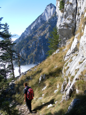 Foto: Wolfgang Lauschensky / Mountainbike Tour / Bike & Hike am Laudachsee / südseitiger Abstieg / 24.10.2012 15:32:46