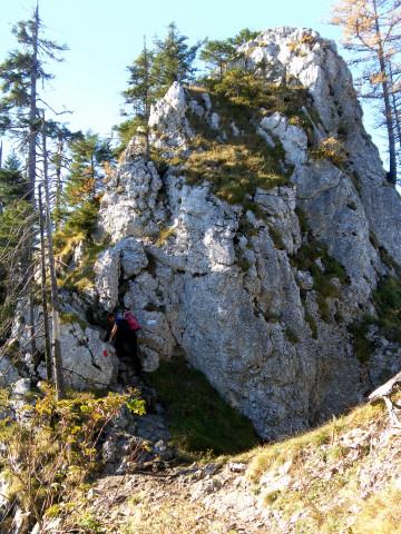 Foto: Wolfgang Lauschensky / Mountainbike Tour / Bike & Hike am Laudachsee / am 'Katzensteinfensterl' / 24.10.2012 15:32:08