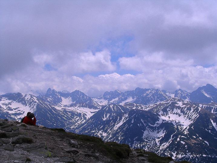 Foto: Andreas Koller / Wander Tour / Dolina Matej Laki und Malolaczniak (2096 m) / Blick von der Kondracka Kopa in die Hohe Tatra / 29.05.2008 01:35:13