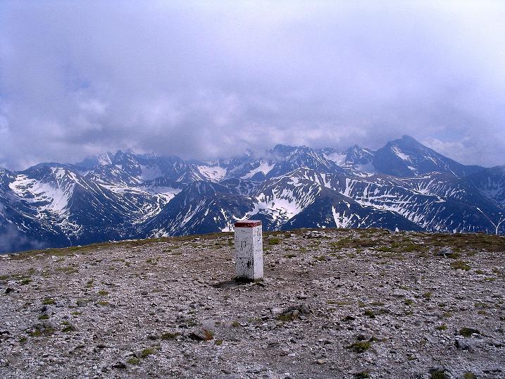 Foto: Andreas Koller / Wander Tour / Dolina Matej Laki und Malolaczniak (2096 m) / Blick vom Malolaczniak in die Hohe Tatra / 29.05.2008 01:33:33