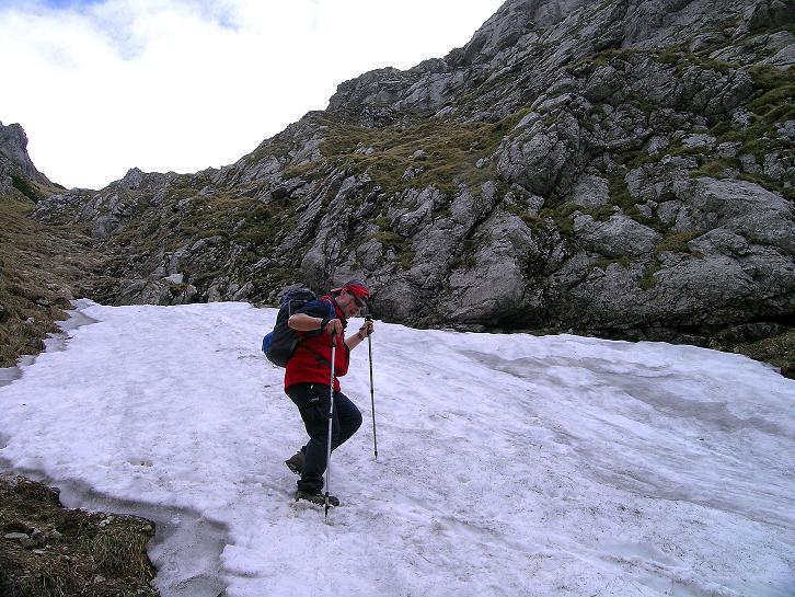 Foto: Andreas Koller / Wander Tour / Dolina Matej Laki und Malolaczniak (2096 m) / Schnee im Abstieg vom Malolaczniak. / 29.05.2008 01:30:27