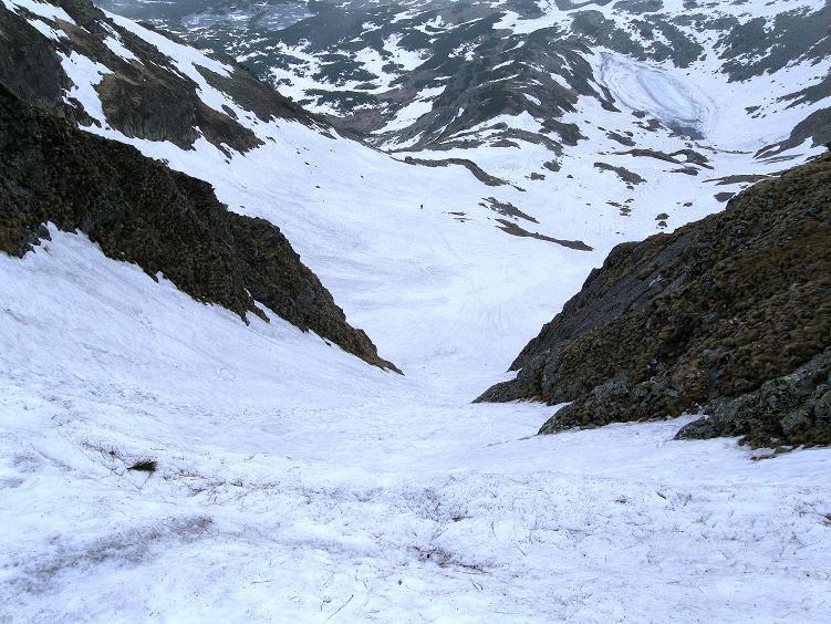 Foto: Andreas Koller / Wander Tour / Swinica (2301m) - Paradegipfel über Zakopane / Blick in die steile Anstiegsrinne / 29.05.2008 22:57:04