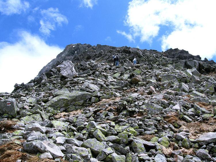 Foto: Andreas Koller / Wander Tour / Swinica (2301m) - Paradegipfel über Zakopane / Der blockige Gipfelaufbau / 29.05.2008 22:56:14