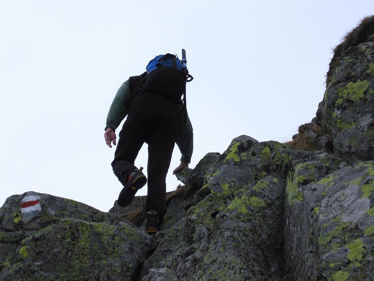 Foto: Andreas Koller / Wander Tour / Swinica (2301m) - Paradegipfel über Zakopane / Blockiger Aufstieg aus dem Swinicka-Sattel / 29.05.2008 22:55:59