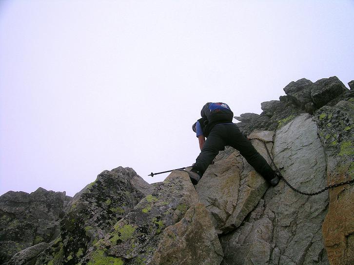 Foto: Andreas Koller / Wander Tour / Swinica (2301m) - Paradegipfel über Zakopane / Schlüsselstelle im oberen Bereich (mit Ketten versichert - B) / 29.05.2008 22:54:03