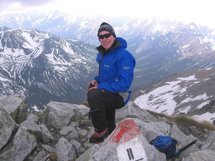 Foto: Andreas Koller / Wander Tour / Swinica (2301m) - Paradegipfel über Zakopane / Gipfelrast mit Blick in die Westliche Tatra / 29.05.2008 22:52:07