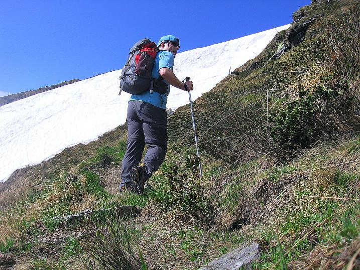 Foto: Andreas Koller / Wander Tour / Gmeineck - Trebesinger Hausberg (2592 m) / Kurz vor dem Ausstieg in die SO-Flanke / 02.06.2008 21:23:48