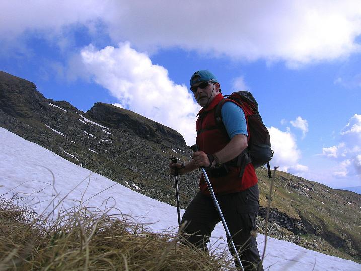 Foto: Andreas Koller / Wander Tour / Gmeineck - Trebesinger Hausberg (2592 m) / Am SO-Rücken mit Stoder (2433 m) im Hintergrund / 02.06.2008 21:21:28