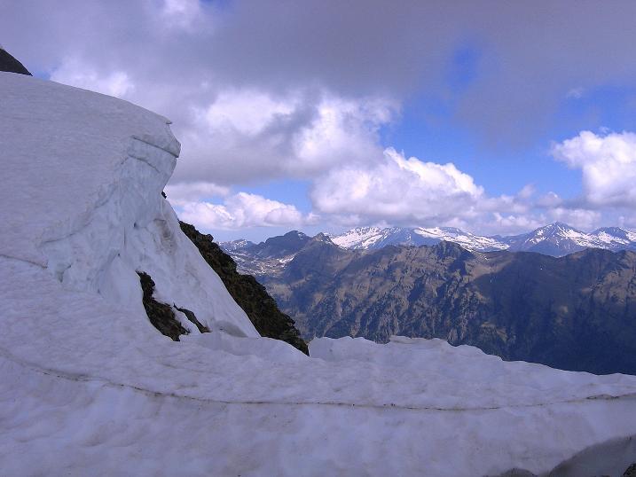 Foto: Andreas Koller / Wander Tour / Gmeineck - Trebesinger Hausberg (2592 m) / Blick nach N Richtung Hochalmspitze (3360 m) / 02.06.2008 21:20:29