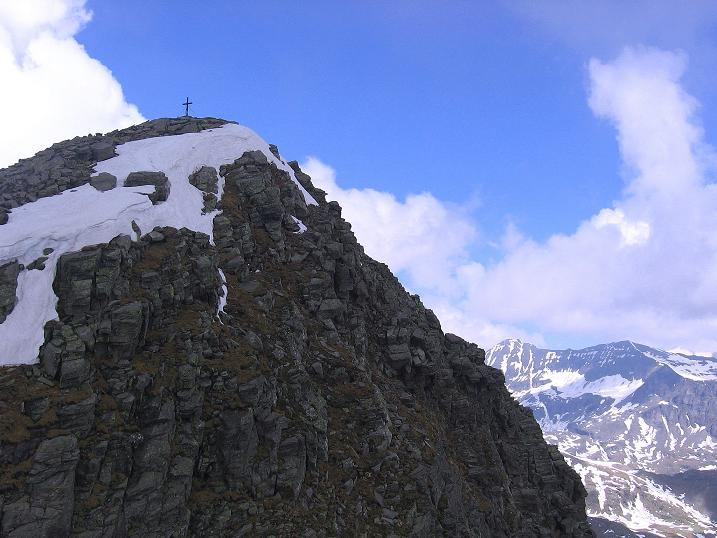 Foto: Andreas Koller / Wander Tour / Gmeineck - Trebesinger Hausberg (2592 m) / Gut sichtbar ist bereits das Kreuz am Gmeineck / 02.06.2008 21:18:30