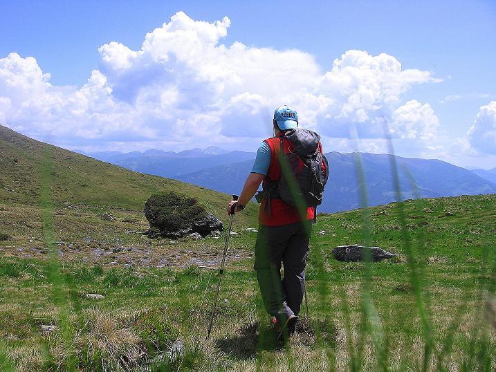 Foto: Andreas Koller / Wander Tour / Gmeineck - Trebesinger Hausberg (2592 m) / Abstieg im Kar / 02.06.2008 21:07:23