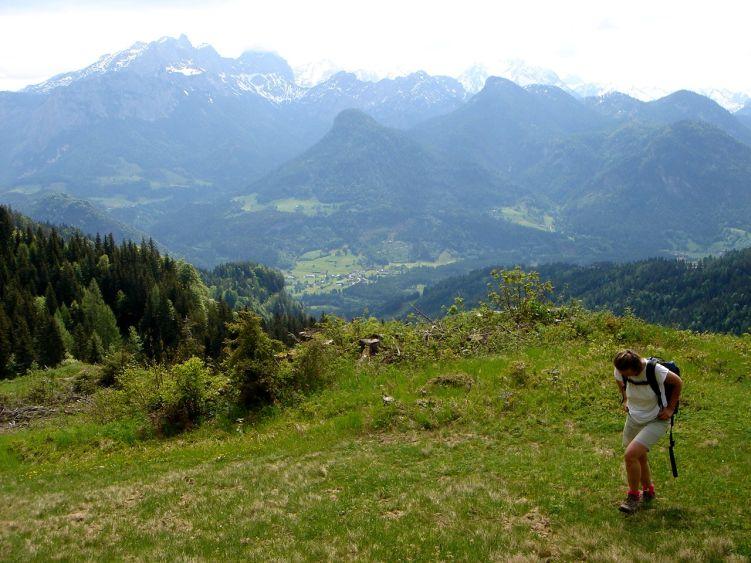 Foto: Manfred Karl / Wander Tour / Vom Soderbauer auf das Schwarzeck / Rückblick ins Saalachtal / 03.06.2008 08:41:35
