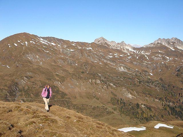 Foto: Manfred Karl / Wander Tour / Weißeck aus dem Riedingtal / Herbstwandern kurz unterhalb der Boarnlacke / 03.06.2008 20:00:29