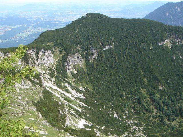 Foto: Manfred Karl / Wander Tour / Alpgartental Umrahmung / Dreisesselberg vom Karkopf / 05.06.2008 17:24:56