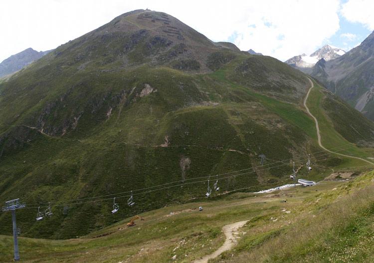 Foto: vince 51 / Wander Tour / Von Mandarfen auf den Grubengrat / Grubengrat mit Weg / 06.06.2008 22:50:22