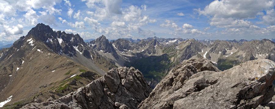 Foto: vince 51 / Wander Tour / Von Pfafflar auf die Reichspitze / Süd-Panorama / 07.06.2008 19:06:16