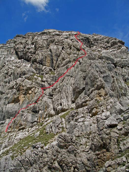 Foto: vince 51 / Wander Tour / Von Pfafflar auf die Reichspitze / Route durch die Gipfelwand (ungefähr) / 07.06.2008 18:54:57