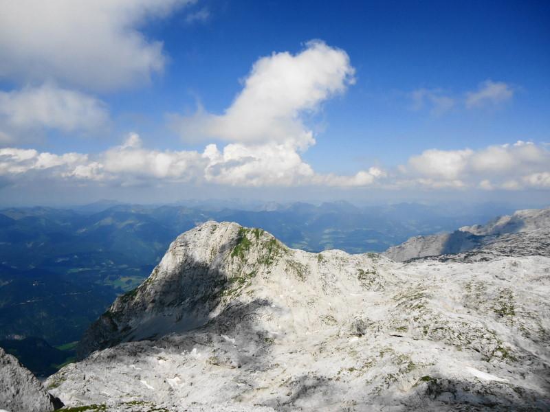 Foto: Günter Siegl / Wander Tour / Knallstein über die Stefan Schatzl Hütte / Blick vom Wieselstein auf den Knallstein / 02.08.2015 20:11:34
