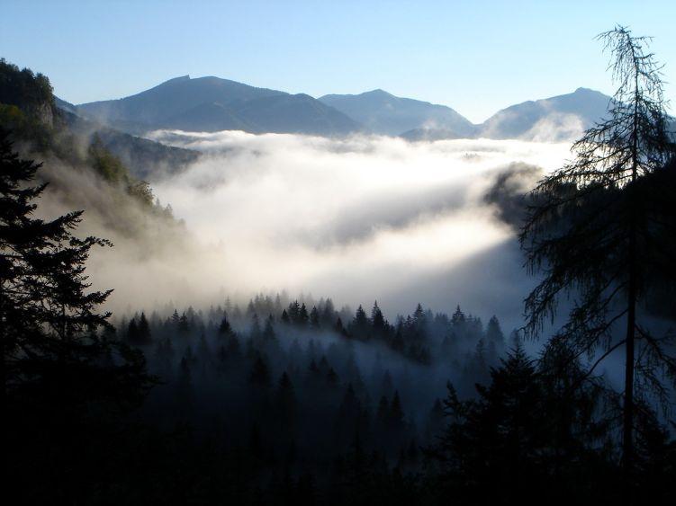 Foto: Manfred Karl / Wander Tour / Knallstein über die Stefan Schatzl Hütte / Es verspricht ein schöner Tag zu werden - leider hat die Prognose dann doch nicht ganz gestimmt. / 08.06.2008 19:56:04