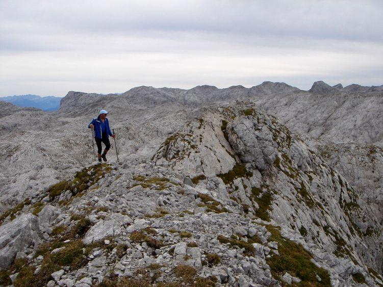 Foto: Manfred Karl / Wander Tour / Knallstein über die Stefan Schatzl Hütte / Übergang zum nördlichen Gipfelpunkt des Knallsteines / 08.06.2008 19:51:00