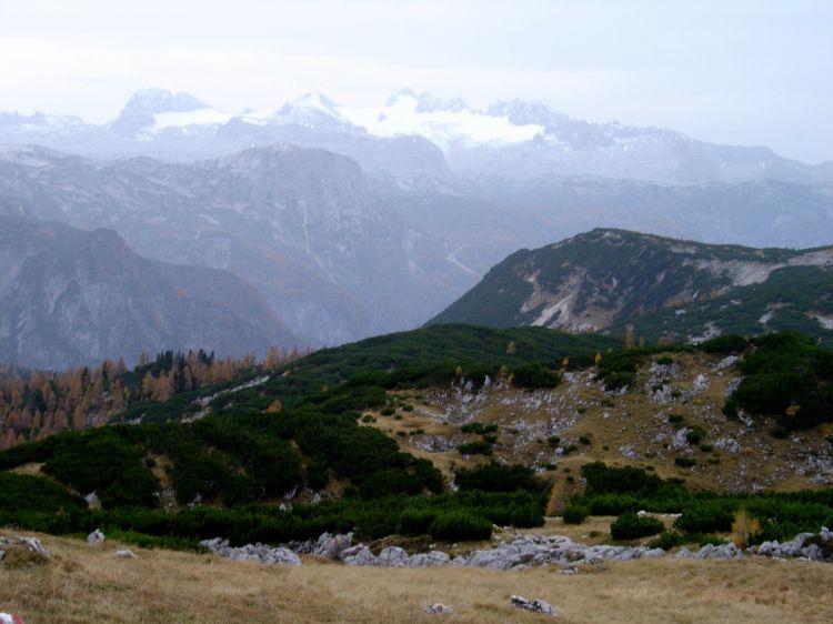 Foto: Manfred Karl / Mountainbike Tour / Über die Gsprangalm auf den Zinken / Dachsteinpanorama / 14.06.2008 15:56:28