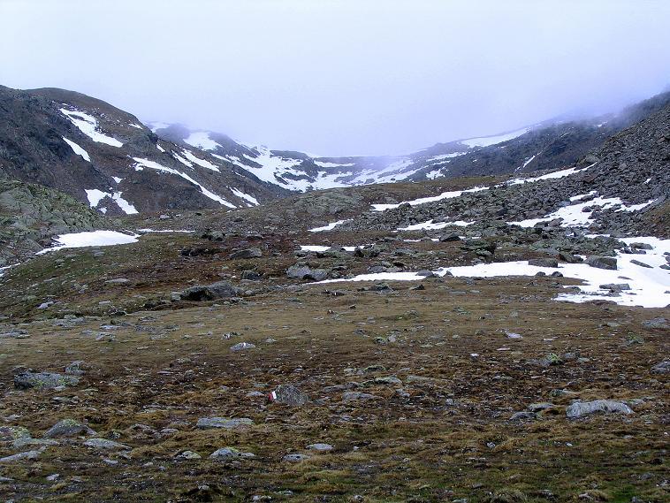Foto: Andreas Koller / Wander Tour / Über die Pilsbergalm auf den Soyspitz (3030 m) / Im Nebel die Soyscharte / 17.06.2008 17:24:38