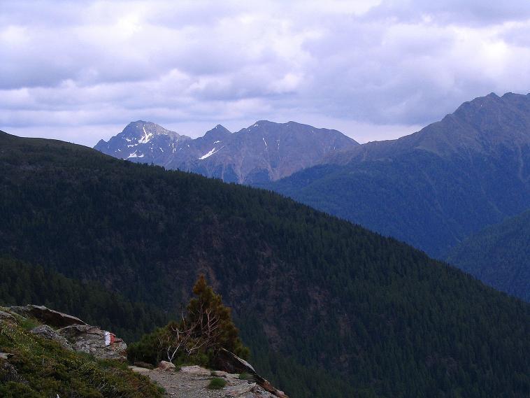 Foto: Andreas Koller / Wander Tour / Über die Pilsbergalm auf den Soyspitz (3030 m) / Blick von der Äußeren Pilsbergalm nach NO zur Laugenspitze (2433 m) / 17.06.2008 17:13:56
