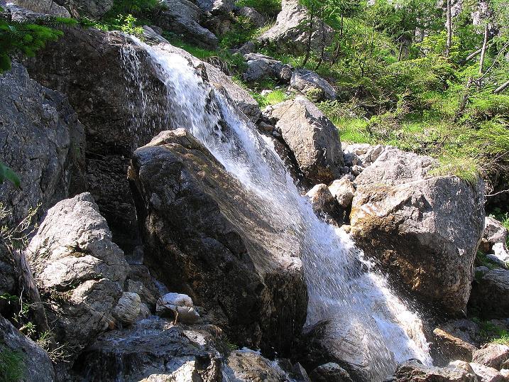 Foto: Andreas Koller / Wander Tour / Tappenkarseehütte - Weißgrubenkopf - Franz Fischerhütte (2369m) / Wasserfall / 24.06.2008 16:33:46