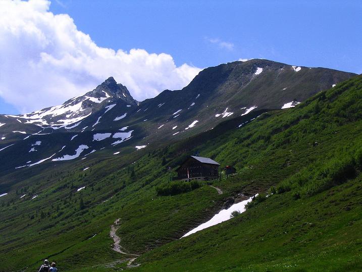 Foto: Andreas Koller / Wander Tour / Tappenkarseehütte - Weißgrubenkopf - Franz Fischerhütte (2369m) / Glingspitze (2433 m) und Tappenkarseehütte / 24.06.2008 16:31:15