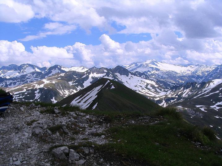 Foto: Andreas Koller / Wander Tour / Tappenkarseehütte - Weißgrubenkopf - Franz Fischerhütte (2369m) / Hafner (3076 m) und Hochalmspitze (3360 m) / 24.06.2008 16:21:30