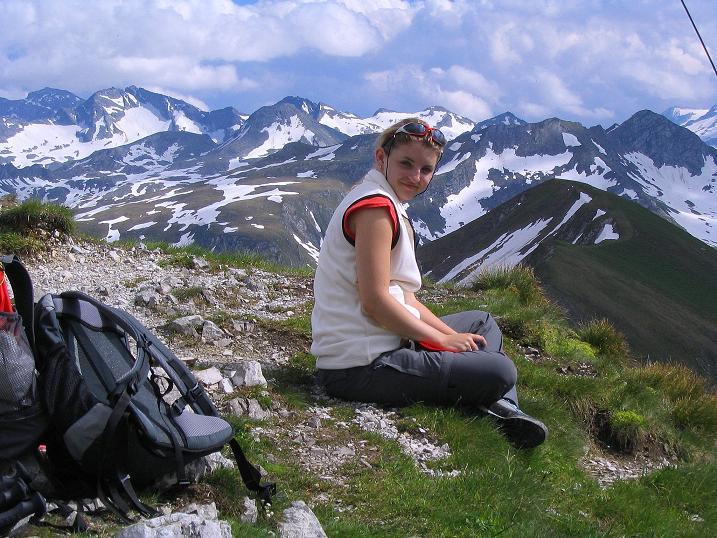 Foto: Andreas Koller / Wander Tour / Tappenkarseehütte - Weißgrubenkopf - Franz Fischerhütte (2369m) / Blick nach SO zum Hafner (3076 m) / 24.06.2008 16:20:56