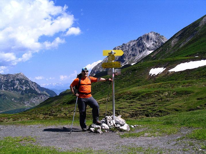 Foto: Andreas Koller / Wander Tour / Glingspitze und Rifflgrat (2433 m) / Im oberen Tappenkar mit Blick auf den Weißgrubenkopf (2369 m) / 24.06.2008 18:12:49