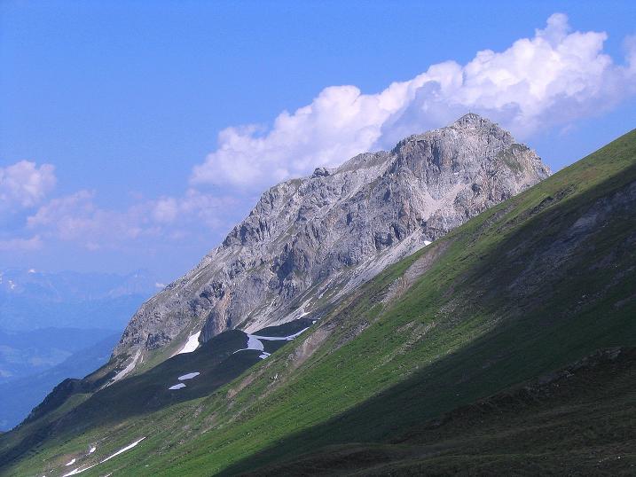 Foto: Andreas Koller / Wander Tour / Glingspitze und Rifflgrat (2433 m) / Blick auf den Weißgrubenkopf (2369 m) / 24.06.2008 18:11:16