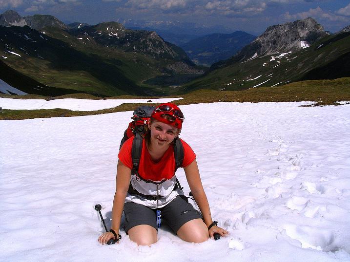 Foto: Andreas Koller / Wander Tour / Glingspitze und Rifflgrat (2433 m) / Schneefelder auf der Glingspitze / 24.06.2008 18:10:35