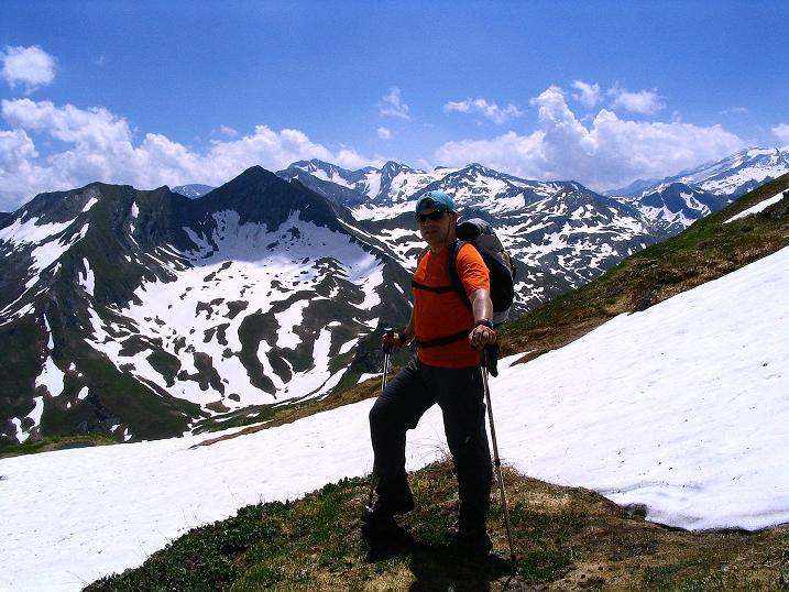 Foto: Andreas Koller / Wander Tour / Glingspitze und Rifflgrat (2433 m) / In der steilen O-Flanke auf die Glingspitze / 24.06.2008 18:09:36