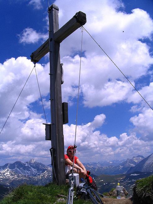 Foto: Andreas Koller / Wander Tour / Glingspitze und Rifflgrat (2433 m) / Am Gipfel der Glingspitze / 24.06.2008 18:07:56
