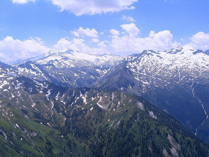 Foto: Andreas Koller / Wander Tour / Glingspitze und Rifflgrat (2433 m) / Blick nach S auf die Hochalmspitze (3360 m) / 24.06.2008 18:07:41