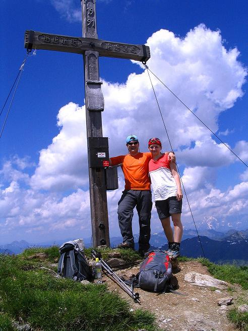 Foto: Andreas Koller / Wander Tour / Glingspitze und Rifflgrat (2433 m) / Glingspitz-Gipfelkreuz / 24.06.2008 18:06:23