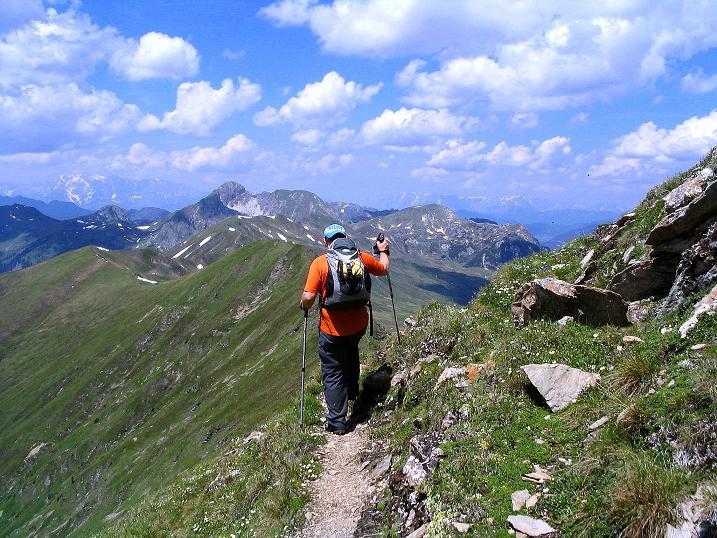 Foto: Andreas Koller / Wander Tour / Glingspitze und Rifflgrat (2433 m) / Grat Richtung Riffl / 24.06.2008 18:03:44
