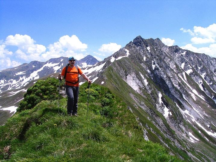 Foto: Andreas Koller / Wander Tour / Glingspitze und Rifflgrat (2433 m) / Auf der Riffl mit Glingspitze / 24.06.2008 18:00:48